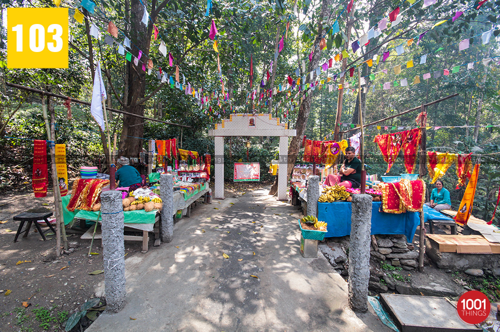 Main entrance to 3rd Mile Mandir, Kalimpong