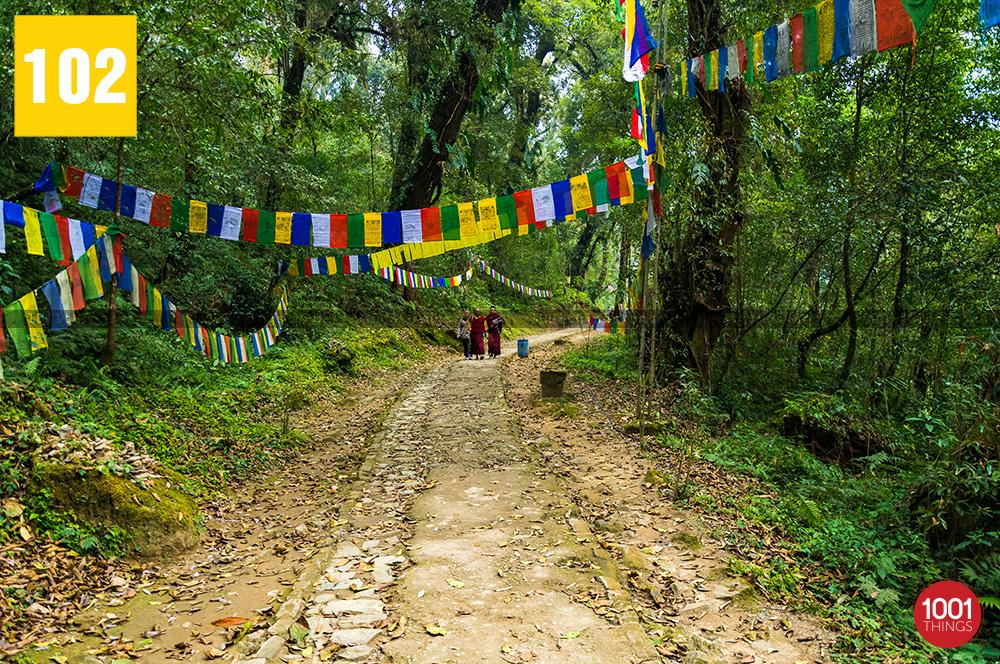 Monks at Khecheopalri Lake Sikkim