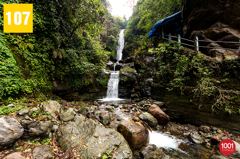 Kanchenjunga Water Fall, Sikkim Front View